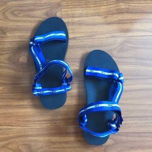 PINK Velcro Logo Sandals